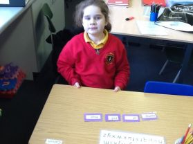 Mrs Young's group revisits alphabetical order