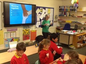 Grainne from the NSPCC visits P6JF